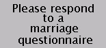 Marriage questionnaire